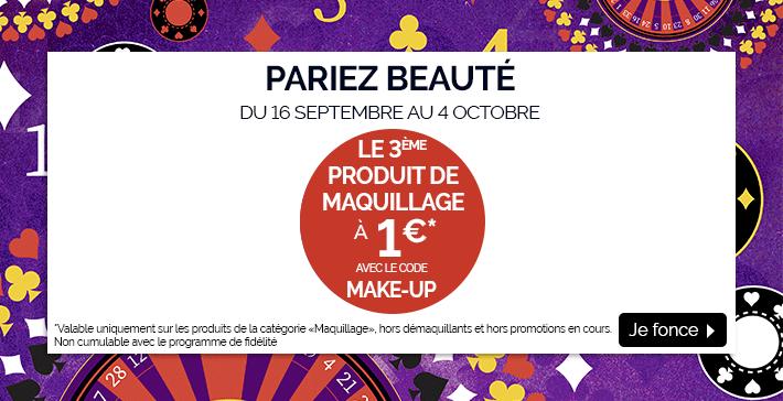 Pariez beauté : le 3ème produit de maquillage à 1€