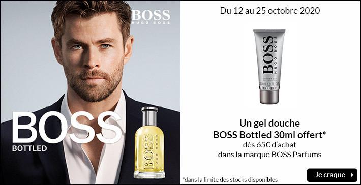 Un gel douche Boss Bottled offert
