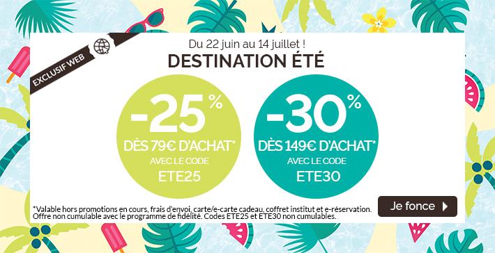 -25% dès 79€ et -30% dès 149€ d'achat !