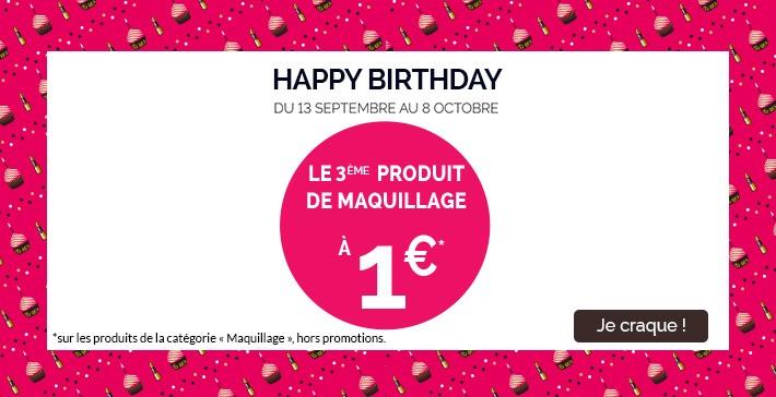 Le 3eme produit maquillage à 1€