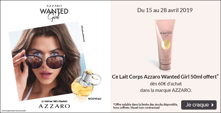 Un lait corps Azzaro Wanted Girl offert !